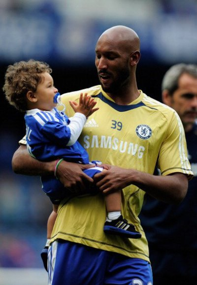 Photo of Nicolas Anelka & his  Son  Kahil Anelka